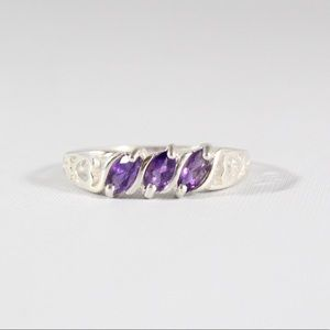 Jewelry - Sterling Silver Amethyst Stacking Ring 10.75